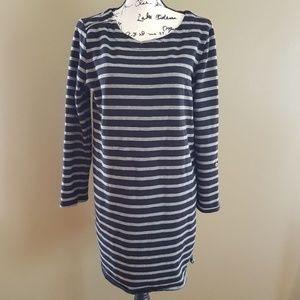 Merona Cotton blend Striped Tunic size L